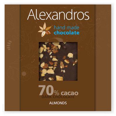 Dark chocolate with almonds 90g